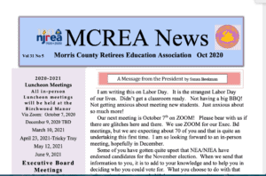 MCREA OCTOBER 2020 NEWSLETTER